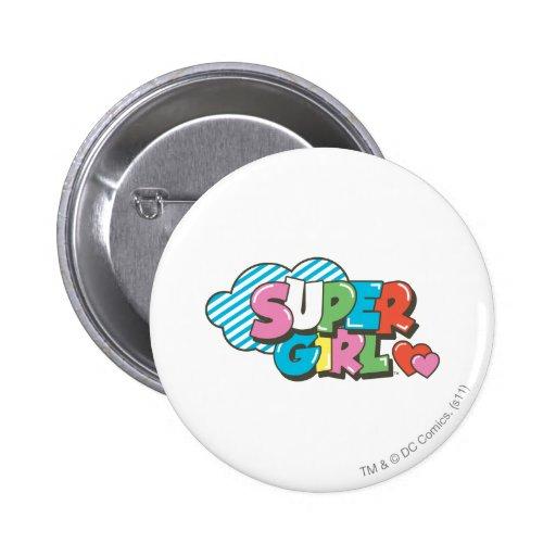Supergirl J-Pop 9 Button