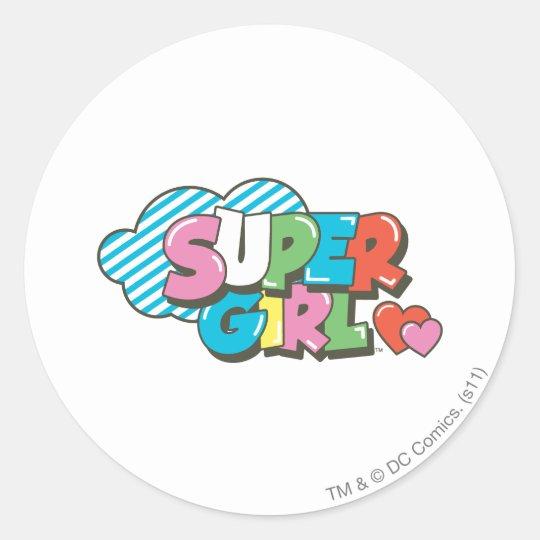 Supergirl J-Pop 9 Classic Round Sticker