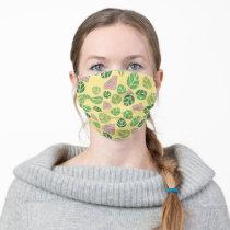 Supergirl Leaf Pattern Adult Cloth Face Mask