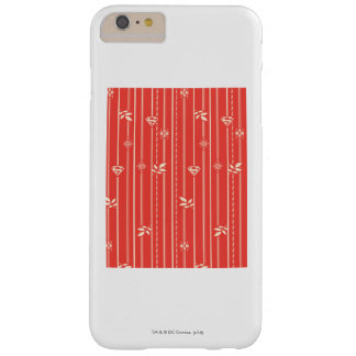 Supergirl Leaf Pattern Red Barely There iPhone 6 Plus Case