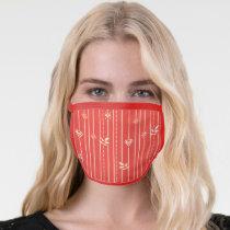 Supergirl Leaf Pattern Red Face Mask