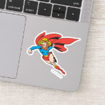 Supergirl Leaps and Punches Sticker