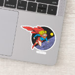 Supergirl Leaps in Space Sticker