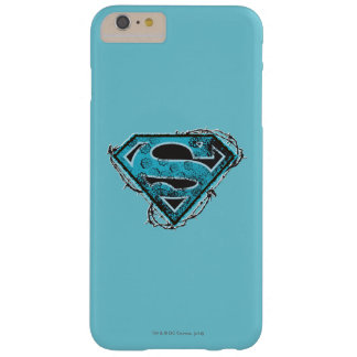 Supergirl Logo Barbed Wire and Flowers Barely There iPhone 6 Plus Case