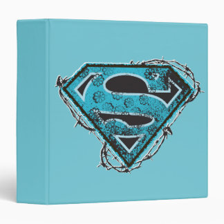Supergirl Logo Barbed Wire and Flowers Binder