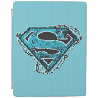 Supergirl Logo Barbed Wire and Flowers iPad Smart Cover