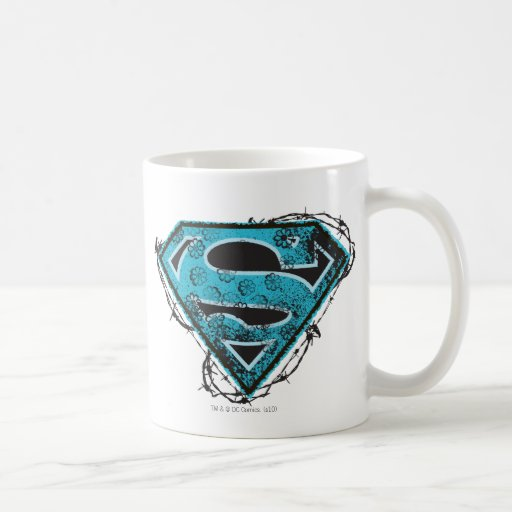 Supergirl Logo Barbed Wire and Flowers Coffee Mugs