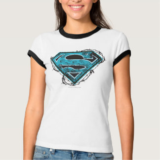 Supergirl Logo Barbed Wire and Flowers T-Shirt