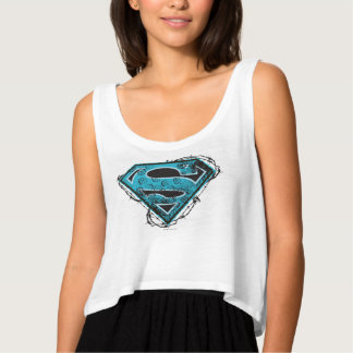 Supergirl Logo Barbed Wire and Flowers Tank Top
