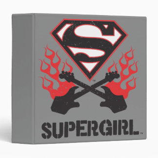 Supergirl Logo Black Flaming Guitars Binder