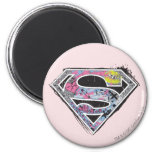 Supergirl Logo Collage 2 Inch Round Magnet