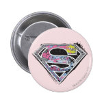 Supergirl Logo Collage Button