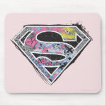 Supergirl Logo Collage Mouse Pad