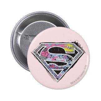 Supergirl Logo Collage Pinback Button