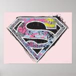 Supergirl Logo Collage Poster