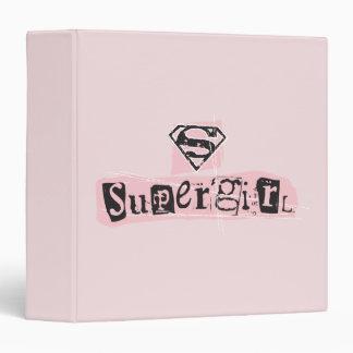 Supergirl Logo Ransom Note 3 Ring Binders