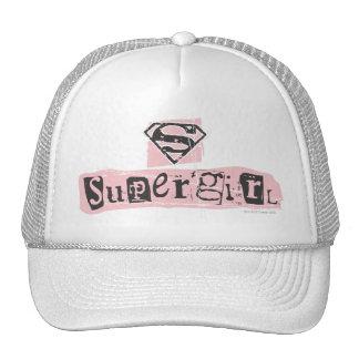 Supergirl Logo Ransom Note Mesh Hats