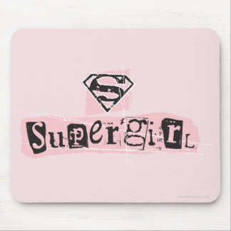 Supergirl Logo Ransom Note Mouse Pad