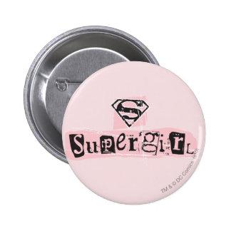 Supergirl Logo Ransom Note Pinback Button