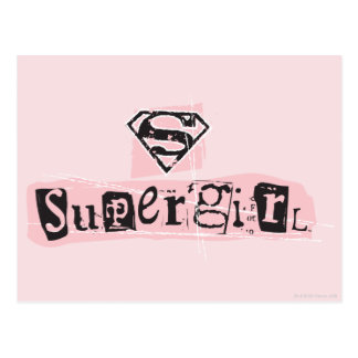 Supergirl Logo Ransom Note Postcard