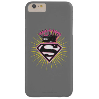 Supergirl Logo with Crown Barely There iPhone 6 Plus Case