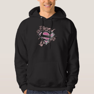 Supergirl Logo with Roses Hoodie