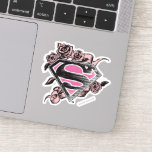Supergirl Logo with Roses Sticker