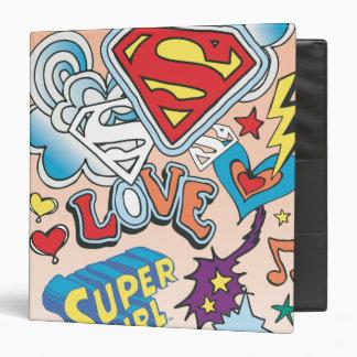 Supergirl Love 3 Ring Binder