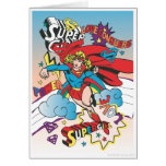 Supergirl Love Conquers Greeting Cards