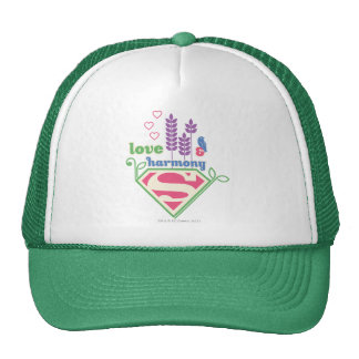 Supergirl Love Harmony Mesh Hat