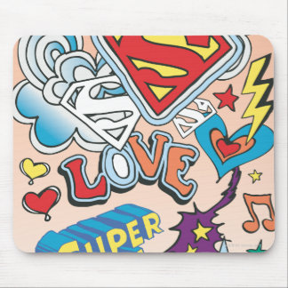 Supergirl Love Mouse Pad