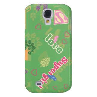 Supergirl Love Pattern Samsung Galaxy S4 Cover