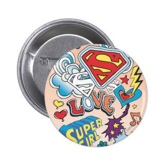 Supergirl Love Pinback Button