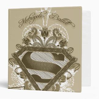 Supergirl Metropolis Ballet Brown Vinyl Binder