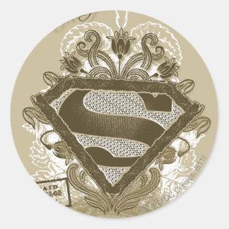 Supergirl Metropolis Ballet Brown Classic Round Sticker