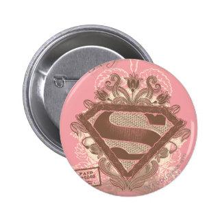 Supergirl Metropolis Ballet Pink Button