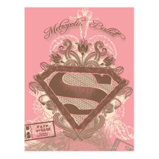 Supergirl Metropolis Ballet Pink Postcard