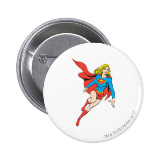 Supergirl on the Move Pinback Button