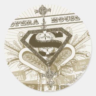 Supergirl Opera House Classic Round Sticker