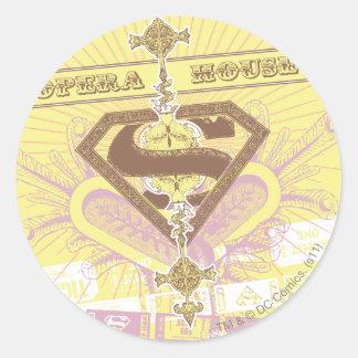 Supergirl Opera House Yellow Classic Round Sticker