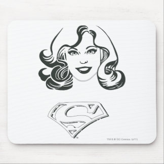 Supergirl Outline 1 Mouse Pad