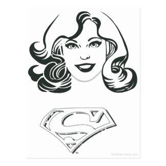 Supergirl Outline 1 Postcard