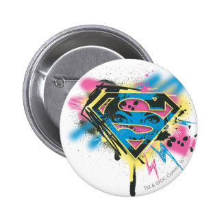 Supergirl Paint and Spills Pinback Button