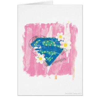 Supergirl para el rosa de la paz tarjeta de felicitación