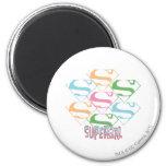 Supergirl Pastel Logo Collage 2 Inch Round Magnet