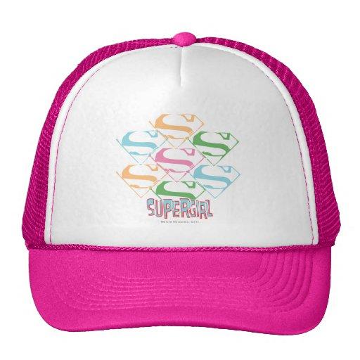 Supergirl Pastel Logo Collage Trucker Hat