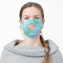 Supergirl Pastel  Repeat Pattern Adult Cloth Face Mask