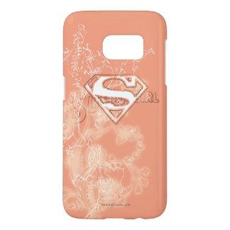 Supergirl Peach Floral Pattern Samsung Galaxy S7 Case