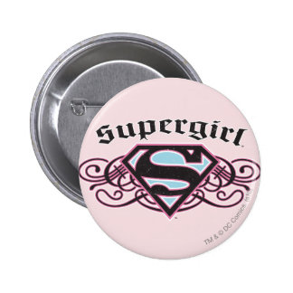 Supergirl Pin Strips Black and Pink
