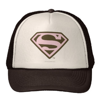 Supergirl Pink and Brown Logo Trucker Hat